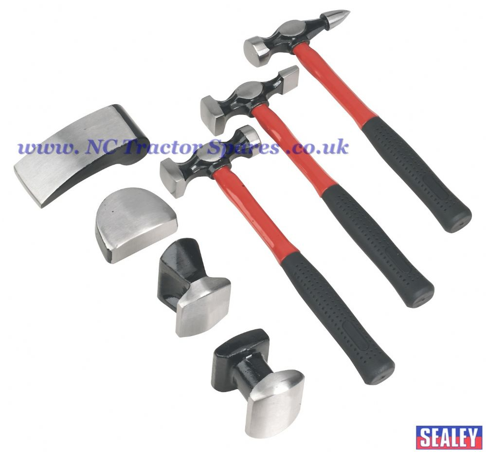 Panel Beating Set 7pc Drop-Forged Fibreglass Shafts